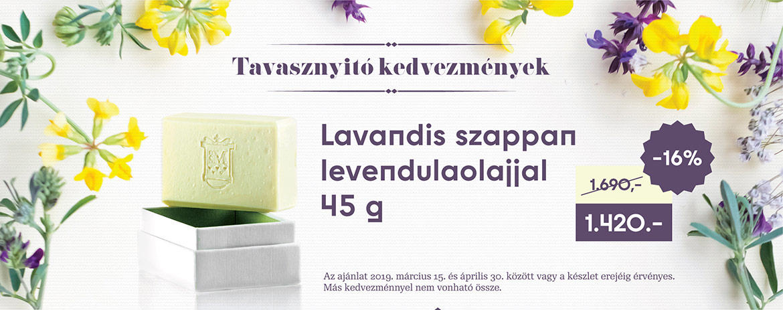 Lavandis szappan levendulaolajjal (45 g)