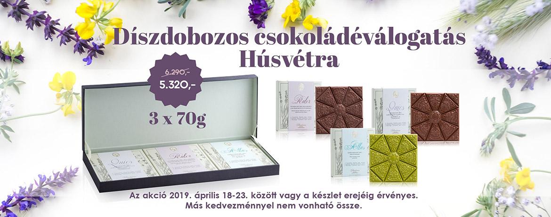 Díszdobozos csokoládéválogatás Húsvétra